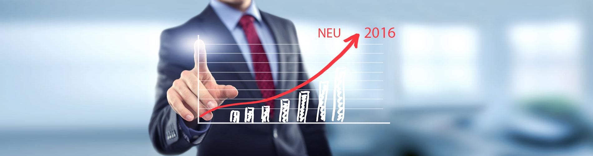 Schwellenwerte ab 2016 erhöht