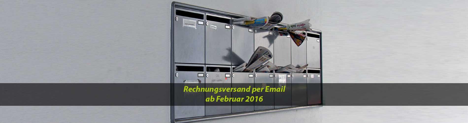 Rechnungsversand per Email